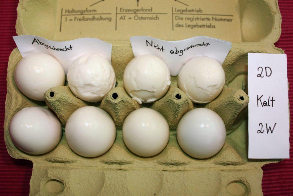 geschälte Eier (kaltes Wasser)