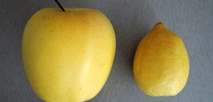 Apfel und Zitrone